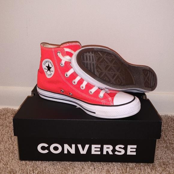 Converse Shoes | Bright Crimson High